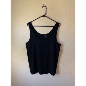Black Old Navy Fitted Tank Top